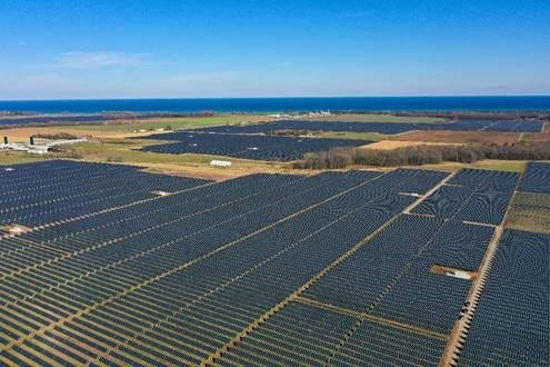 Two Creeks Solar Park, the state's first large-scale solar array, opened in November.