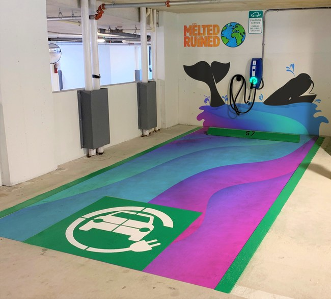 EV Charging Station Miami Art