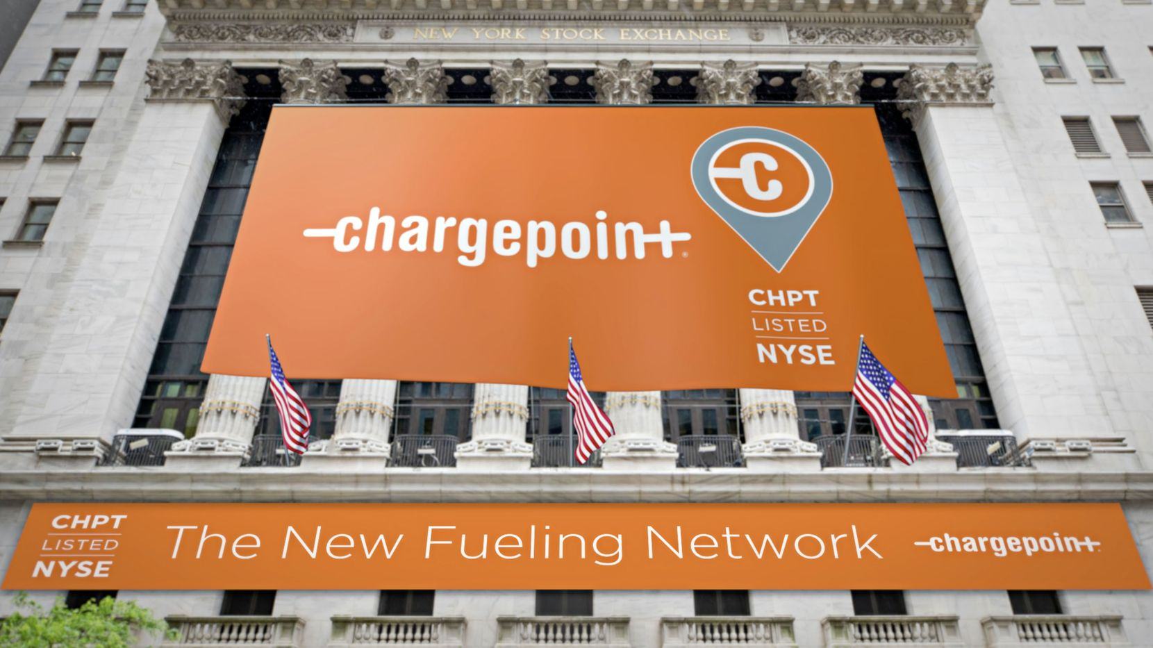 EV charging network company ChargePoint went public Monday, March 1, on the New York Stock Exchange. The company's public listing was backed by Dallas-based Switchback Energy Acquisition Corp.