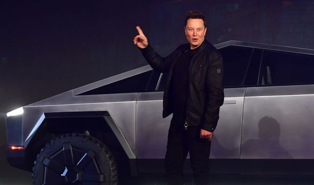 Tesla co-founder and CEO Elon Musk introduces the newly unveiled all-electric battery-powered Tesla Cybertruck at Tesla Design Center in Hawthorne, California