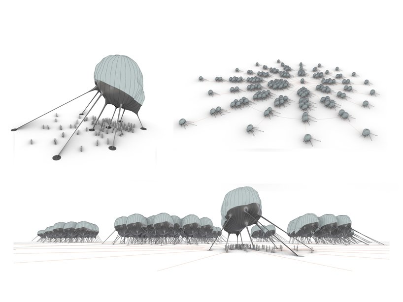 OF. STUDIOproposes a moving, cloud-like object to generate solar energy designboom