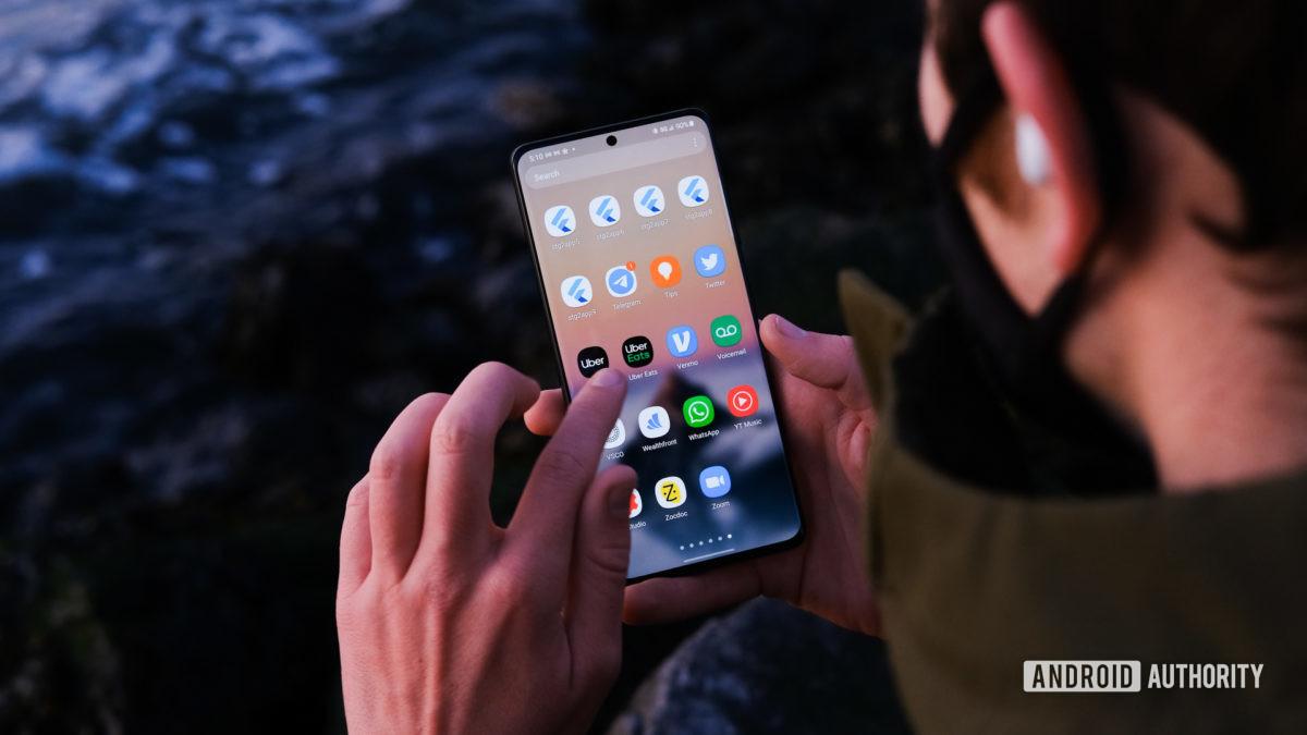 Samsung Galaxy S21 apps launcher