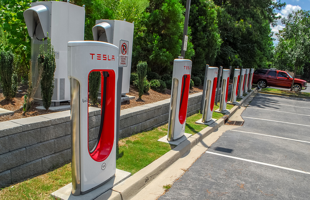Tesla has eight Supercharger sites in South Carolina and several destination recharging stations, including in the parking lot of the Hilton Garden Inn on Farrow Road in Columbia. (Photo/Andy Owens)