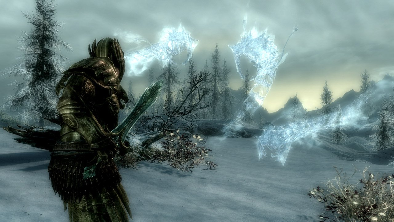 A confrontation with several ice wraiths