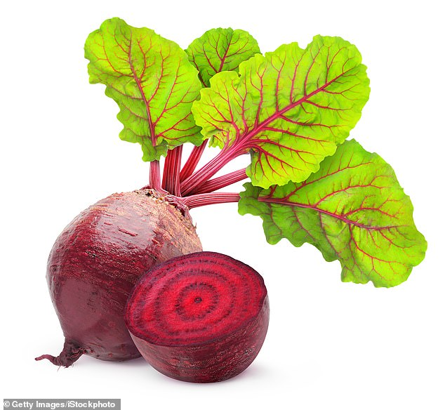 The dermatologist also said beetroot (pictured) are packed with skin-boostingmanganese and folate, and were used by ancient Romans to treat skin problems