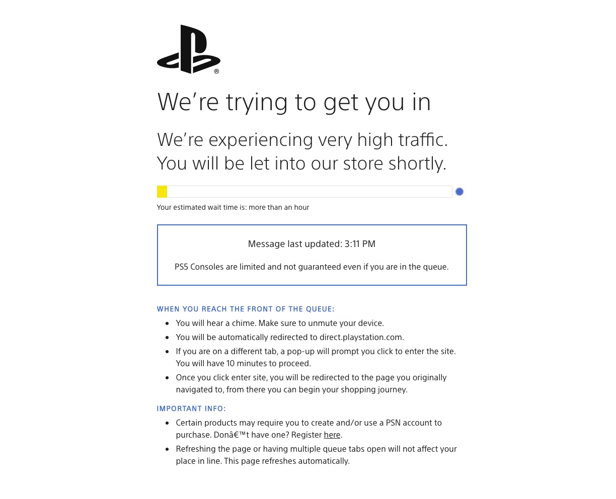 Sony Direct PS5 restock