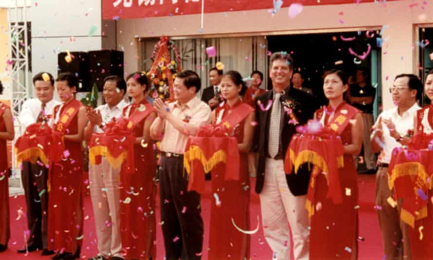 An event marking the founding of Chinese solar leader SunTech in 2002