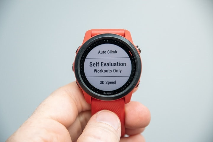 Garmin-Forerunner-Self-Evaluation-Setting