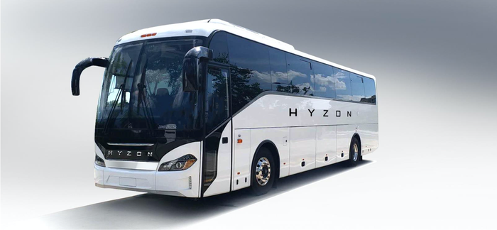 A Hyzon Motors electric bus.