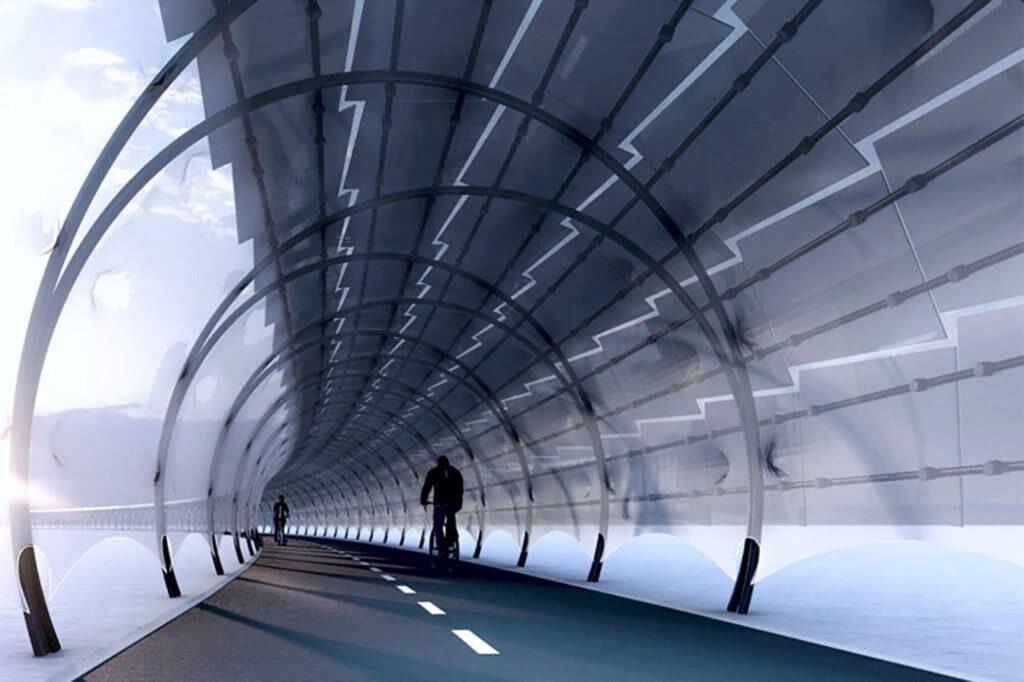 Solar Véloroute- An Illuminated Bike Pathway That Generates Energy