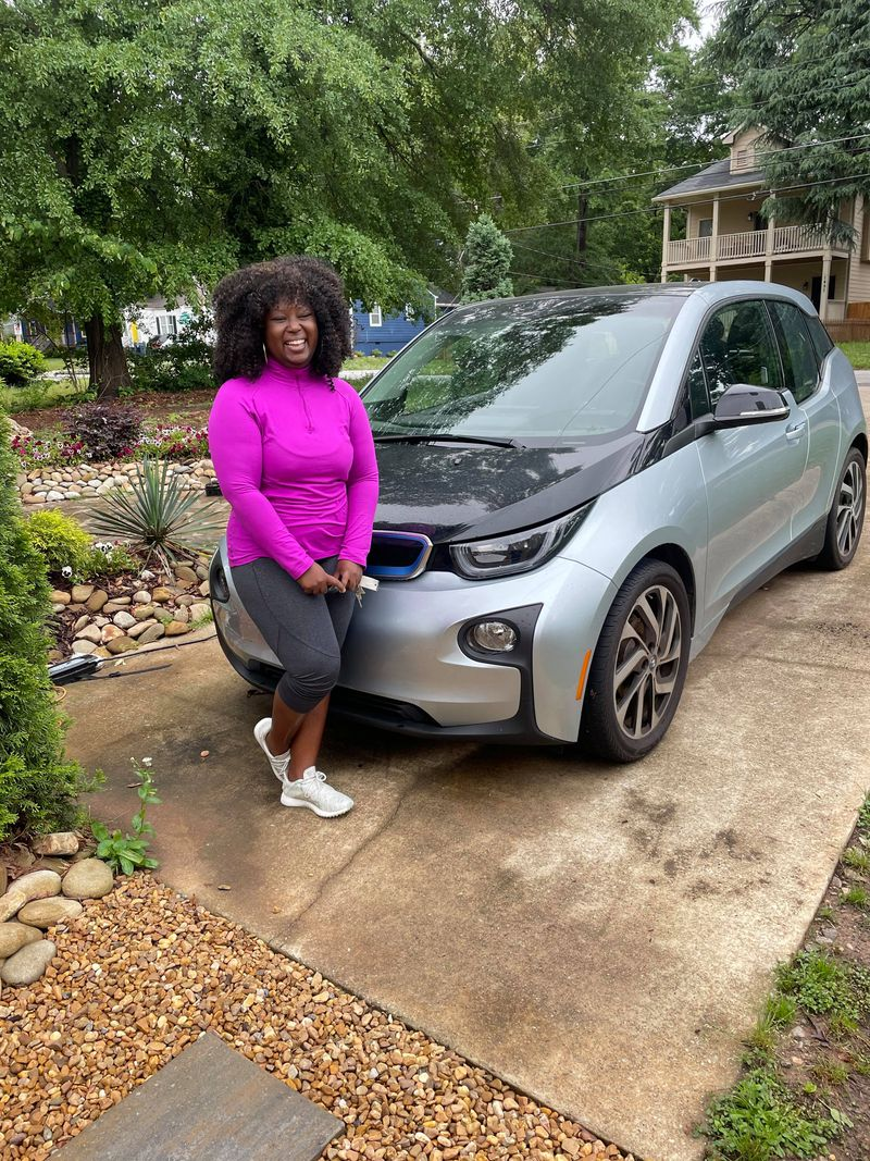 """Davida Selby traded in her Mercedes in 2020 and got an electric BMW. """"I feel thankful that there is one less thing to worry about,"""" she said about her previous reliance on gasoline."""
