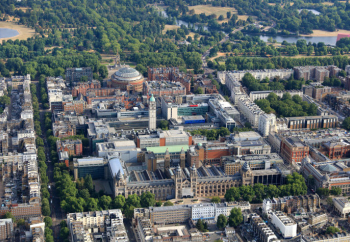 South Kensington campus viewed from the sky