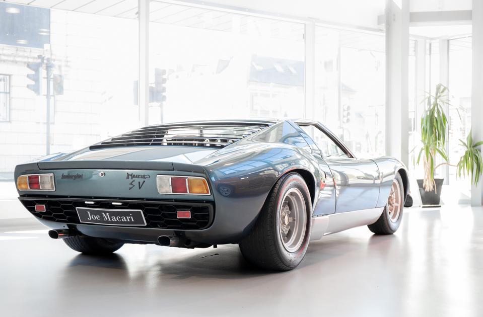The Lamborghini Miura SV...