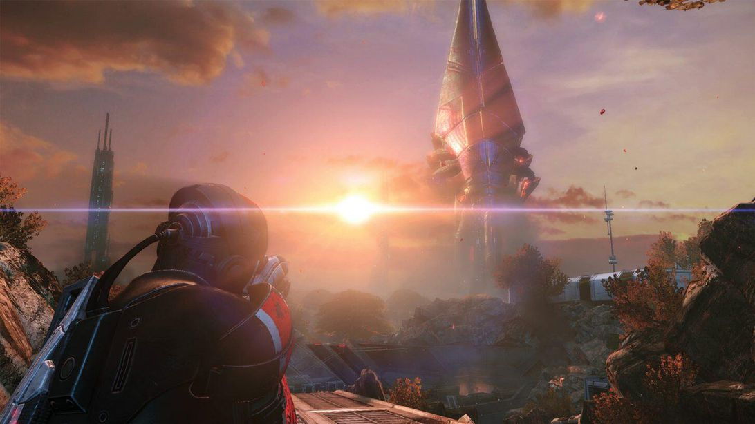 Shepard sees a Reaper in Mass Effect: Legendary Edition