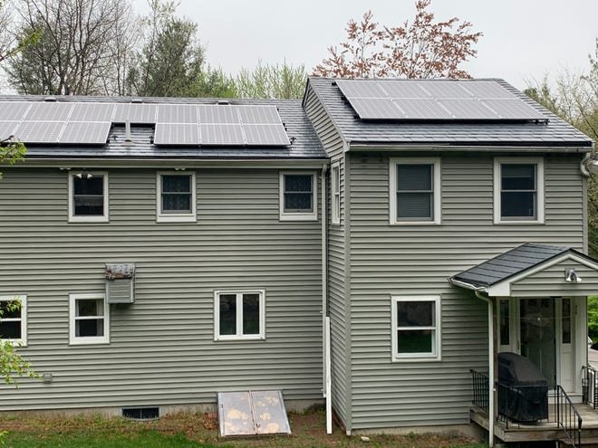 Solar panels are installed on a local home. Westford Climate Action will present a virtual info session on solar paneling on May 22.