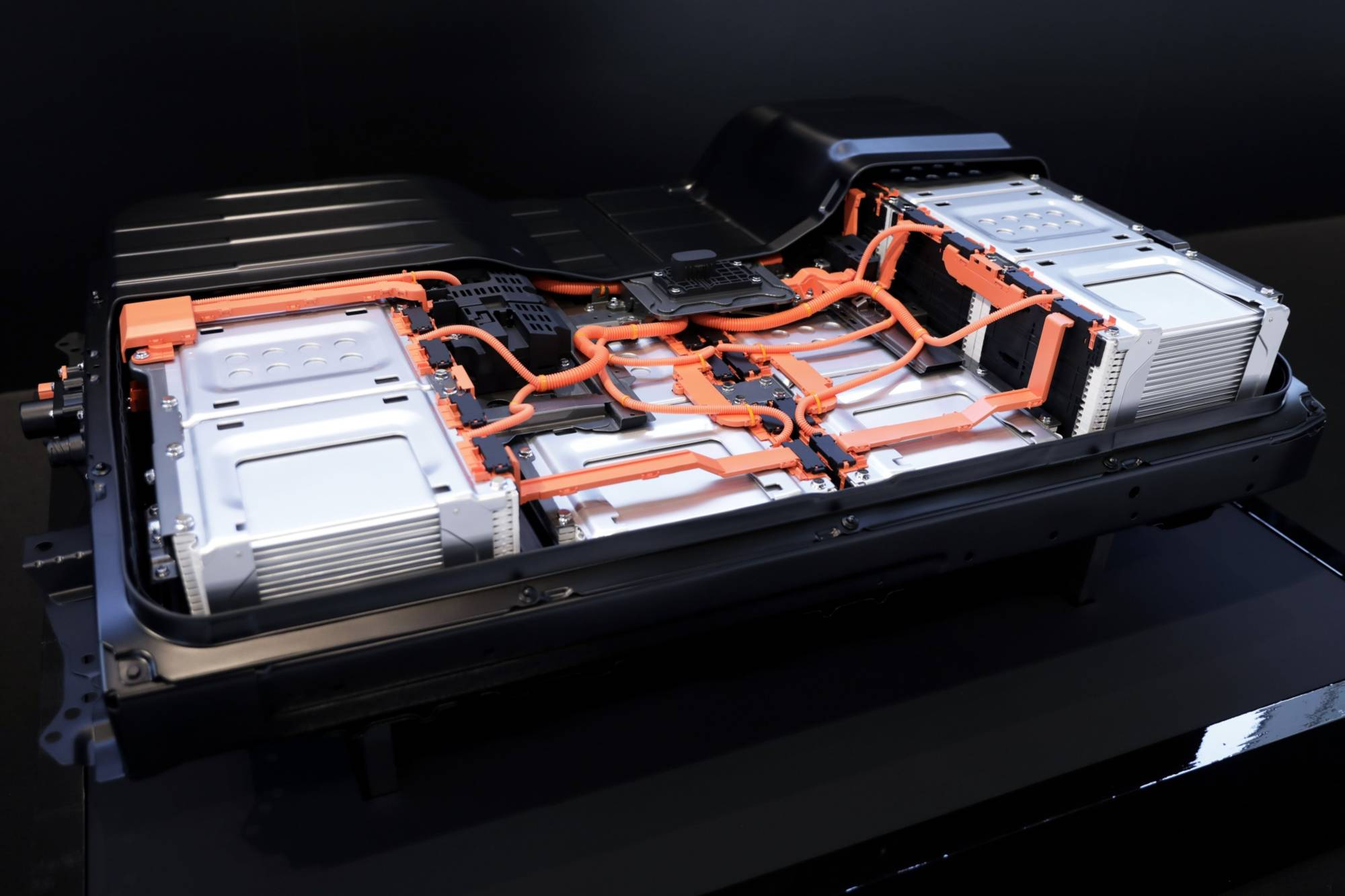 A battery pack for the Nissan Leaf | BLOOMBERG