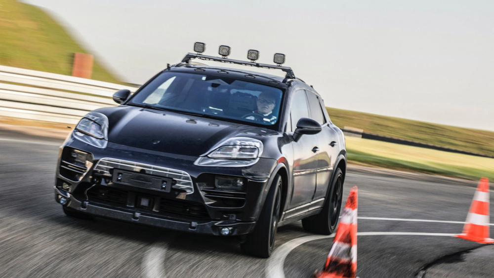 Porsche starts real-world testing of its electric Macan.
