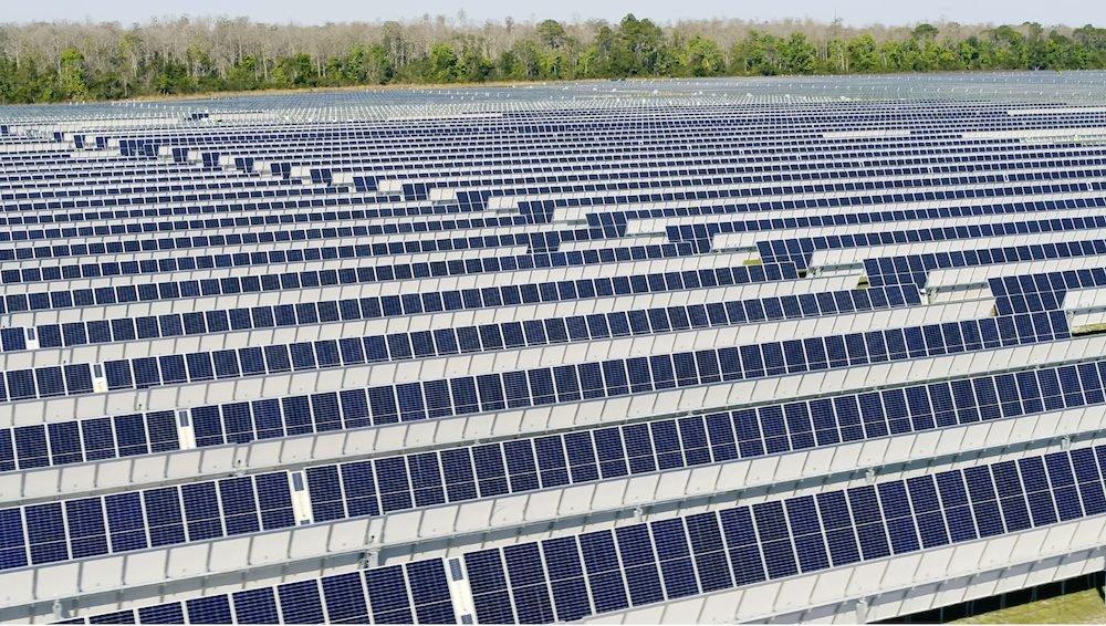 Solar panels at Harmony Solar Energy Center fields in Osceola County