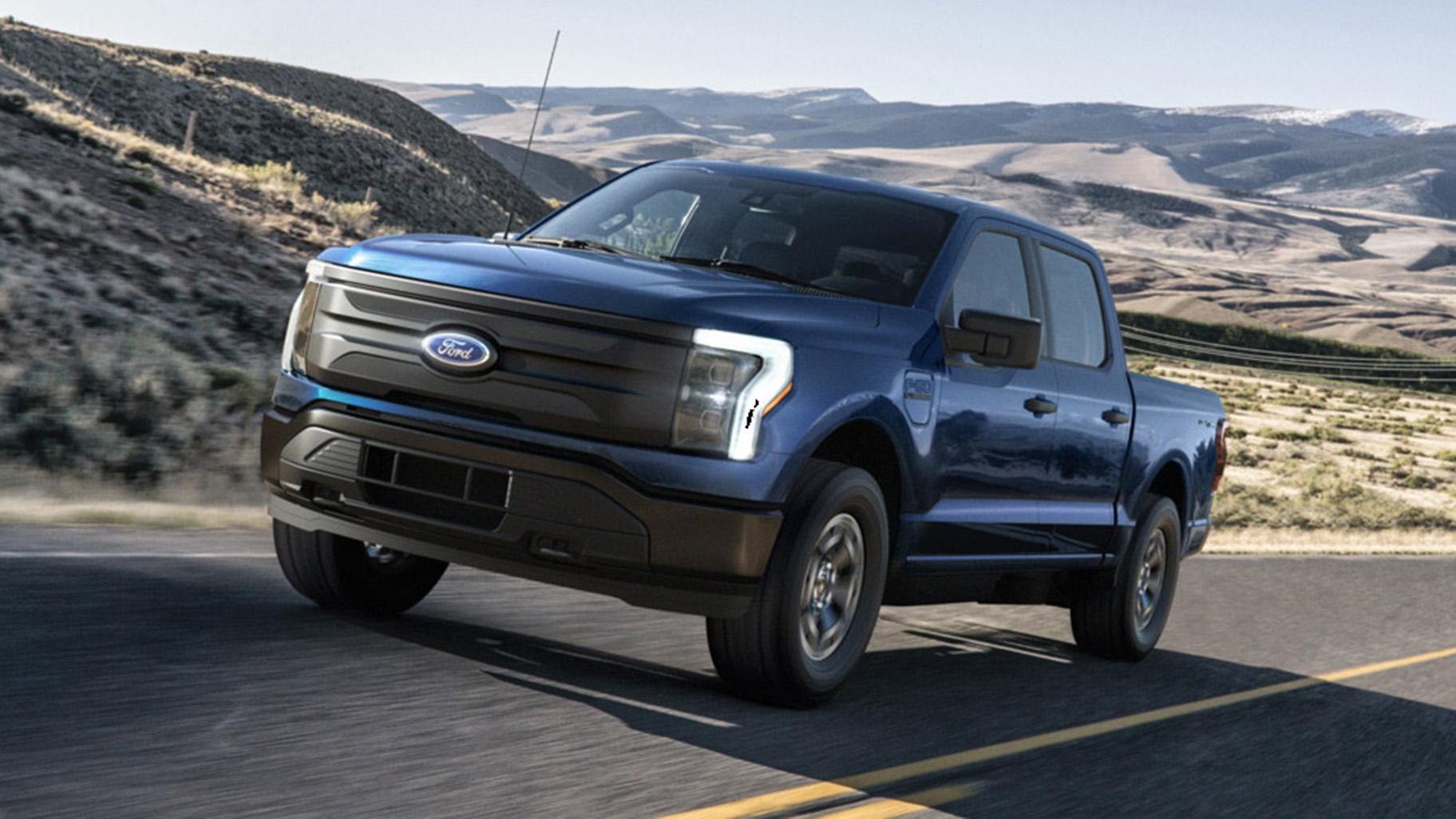The 2022 Ford F-150 Lightning Pro. (Credit: Ford Motor Company)