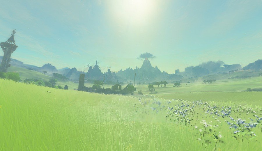 And then load in... here's Hyrule Field!