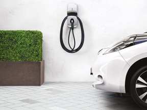 A FLO home charging station.